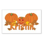 Halloween Pumpkin Kristin Sticker (Rectangle)