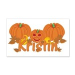 Halloween Pumpkin Kristin 20x12 Wall Decal