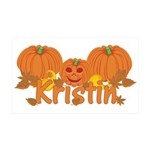 Halloween Pumpkin Kristin 35x21 Wall Decal