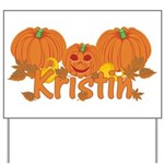 Halloween Pumpkin Kristin Yard Sign