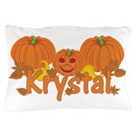 Halloween Pumpkin Krystal Pillow Case