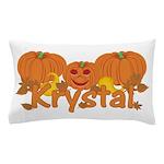Halloween Pumpkin Krystal Pillow Case