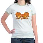 Halloween Pumpkin Krystal Jr. Ringer T-Shirt