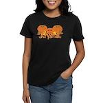 Halloween Pumpkin Krystal Women's Dark T-Shirt