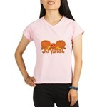 Halloween Pumpkin Krystal Performance Dry T-Shirt