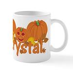 Halloween Pumpkin Krystal Mug