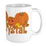 Halloween Pumpkin Krystal Large Mug