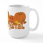 Halloween Pumpkin Krystal Large Mug