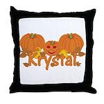 Halloween Pumpkin Krystal Throw Pillow