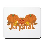 Halloween Pumpkin Krystal Mousepad