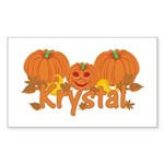Halloween Pumpkin Krystal Sticker (Rectangle)