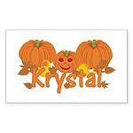Halloween Pumpkin Krystal Sticker (Rectangle)