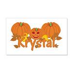 Halloween Pumpkin Krystal 20x12 Wall Decal