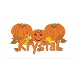 Halloween Pumpkin Krystal 35x21 Wall Decal