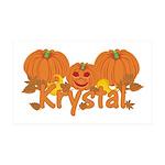 Halloween Pumpkin Krystal 35x21 Wall Decal