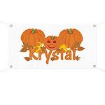 Halloween Pumpkin Krystal Banner