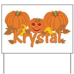 Halloween Pumpkin Krystal Yard Sign