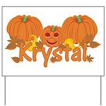 Halloween Pumpkin Krystal Yard Sign