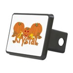 Halloween Pumpkin Krystal Rectangular Hitch Cover