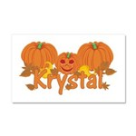 Halloween Pumpkin Krystal Car Magnet 20 x 12