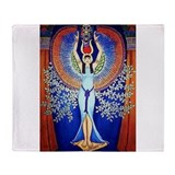 Egyptian Goddess Isis.jpg Throw Blanket