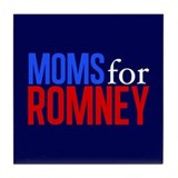 Moms for Romney Tile Coaster
