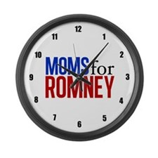 Moms for Romney Large Wall Clock