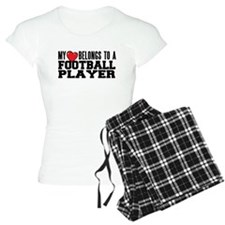 Heart Belongs to Football Women's Pajamas