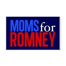 Moms for Romney Rectangle Car Magnet