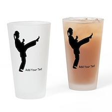 Karate Personalized Drinking Glass