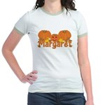 Halloween Pumpkin Margaret Jr. Ringer T-Shirt