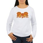 Halloween Pumpkin Margaret Women's Long Sleeve T-S