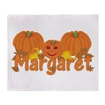 Halloween Pumpkin Margaret Throw Blanket