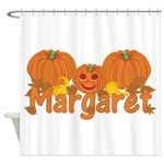 Halloween Pumpkin Margaret Shower Curtain
