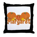 Halloween Pumpkin Margaret Throw Pillow