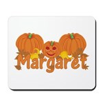 Halloween Pumpkin Margaret Mousepad