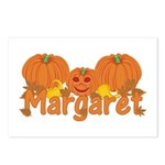 Halloween Pumpkin Margaret Postcards (Package of 8