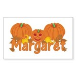 Halloween Pumpkin Margaret Sticker (Rectangle)