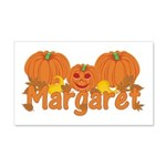 Halloween Pumpkin Margaret 20x12 Wall Decal