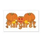 Halloween Pumpkin Margaret 20x12 Wall Decal