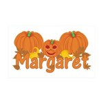 Halloween Pumpkin Margaret 35x21 Wall Decal