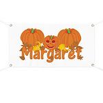 Halloween Pumpkin Margaret Banner