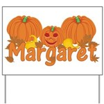 Halloween Pumpkin Margaret Yard Sign