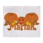 Halloween Pumpkin Mariah Throw Blanket