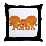 Halloween Pumpkin Mariah Throw Pillow