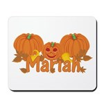 Halloween Pumpkin Mariah Mousepad