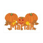 Halloween Pumpkin Mariah 35x21 Wall Decal