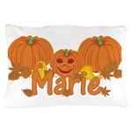 Halloween Pumpkin Marie Pillow Case