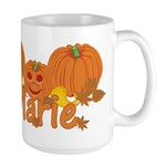 Halloween Pumpkin Marie Large Mug