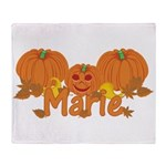 Halloween Pumpkin Marie Throw Blanket